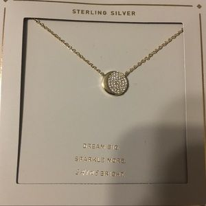 Jewelry - BNWT Sterling Silver & Gold w Cubic Zirconia Moon